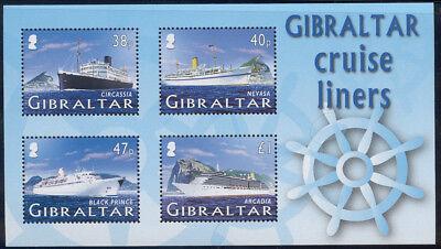 Gibraltar - 2005 Cruise ships sheetlet of 4 #1024a cv $9.75 Lot #601