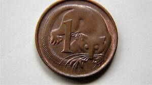 1 cent coins from RAM rolls    LOT 107