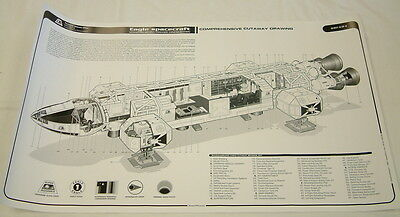 SPACE 1999 : EAGLE TRANSPORTER FOUR POSTER SET BLUEPRINTS