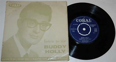 BUDDY HOLLY*LISTEN TO ME EP*PEGGY SUE*EVERYDAY + 1*1958*CORAL 2002*R'n'R*VG/VG+