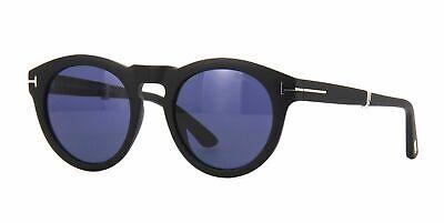 Tom Ford Sunglasses Carter-02 FT0627 02V 50MM Folding Matte Black / Blue (Tom Ford Sunglasses Blue Lenses)