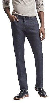 Brand New Banana Republic The Traveler Dark Blue Slim Mens Jeans Nwot
