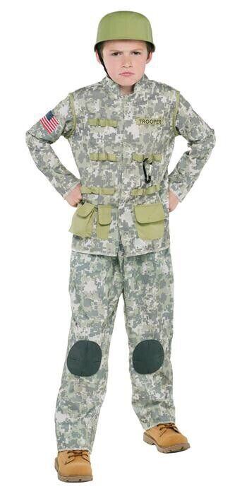 Boys Halloween Set Outfit Soldier Size M 8-10 Years