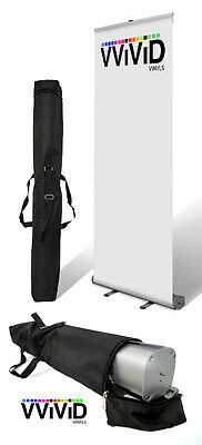 Retractable Banner Stand 32 Wide 79 Tall Display