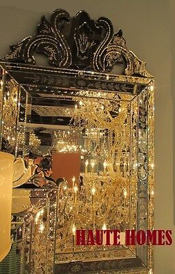 "NEW STUNNING 49"" VENETIAN ETCH ENGRAVE RECTANGLE Wall FOYER MANTEL Mirror"