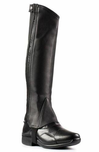 Horze Half Chaps - Leather, 37296 Black Size Large LG
