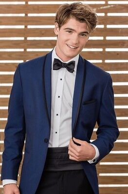 Jean Yves Sapphire Calypso  tuxedo 38R/31 Prom/wedding Stand out from the (Sapphire Tuxedo)