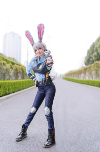 Original Zootopia Bunny Rabbit Judy Hopps Cosplay Costume Full Suit Cos Belts