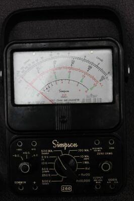 Simpson Motorola 260 Series Analog Volt Ohm Meter Nice