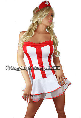 Matching Womens Halloween Costumes (Sexy Women Red Nurse Tube Dress Costume Halloween + matching)