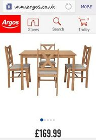 Brand new table & 4 chairs