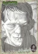 Frankenstein Sketch Card