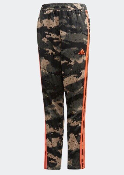 ADIDAS YOUTH SOCCER TIRO 19 TRAINING PANTS CAMO ORANGE NWT N