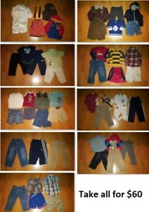 2T Boy Clothing Lot 1 (Take 50 Pieces for $60)