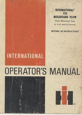 Ihc International Ih 710 Moldboard Plow Owners Operator Manual Repair Service