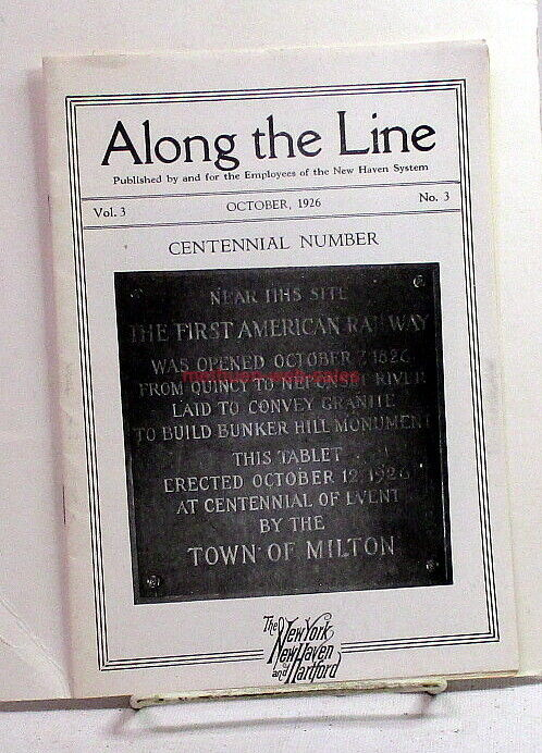 Along The Line~New Haven Railroad/NH RR Employee Magazine~October 1926~News