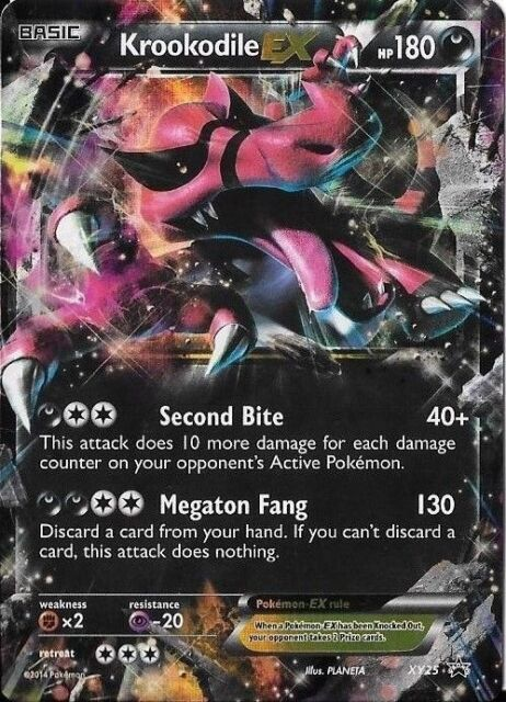 Pokemon Krookodile EX XY 25 Holofoil Promo Card Regular Normal ...