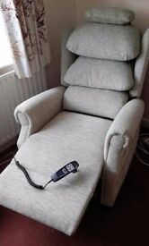 Riser Recliner chair, in unmarked condition - hardly used £550 OVNO in Boston