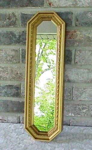 Vintage Home Interiors Wall Mirror (1) Gold Tone Frame Ornate Hollywood Regency