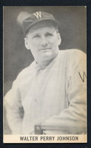 1961 Wrigley Field Exhibit Post Card Walter Johnson Washington Wajo
