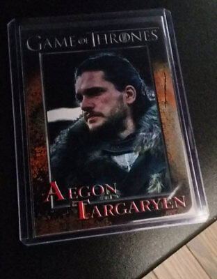 Aegon Targaryen   Kit Harrington   Game Of Thrones Season 7 Promo Card  S1