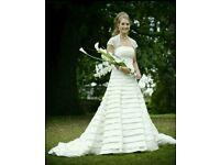 size 8 wedding dress with shawl and box £250 ONO