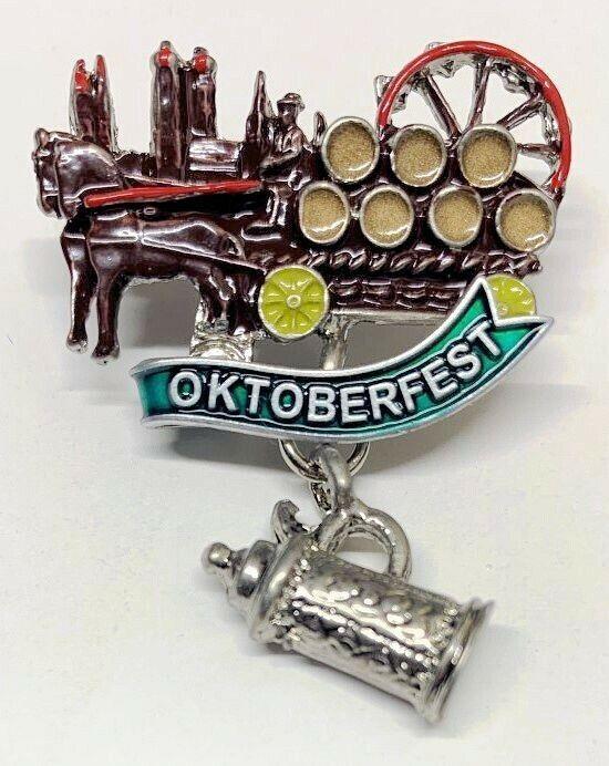 German hat pin Oktoberfest Wagon
