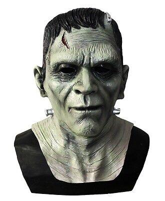 Deluxe Frankenstein Monster Maske Latex Boris Karloff Halloween Horror Kostüm