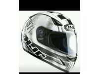 Motorbike helmet, jacket and pants