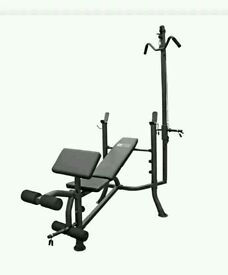 Pro fitness lat and curl bench (brand new and boxed)