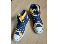 Converse All Star 2 fold high top mens canvas trainers~11~Double tongue