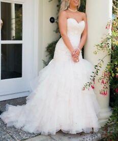 Stunning size 8 fishtail morilee wedding dres