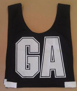 NETBALL BIBS JUNIOR FULL SET  BRAND NEW Black/White