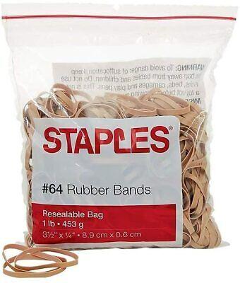Staples Economy Rubber Bands 64 1 Lb. Bag 380pack 28618-cc
