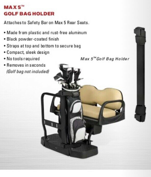 Max 5 Double Take Golf Bag Holder Golf Cart