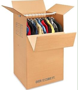 Two wardrobe boxes used once.