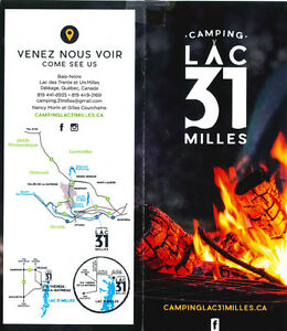 Nouveau Camping Lac 31 Milles/ New campground 31 Milles Lake