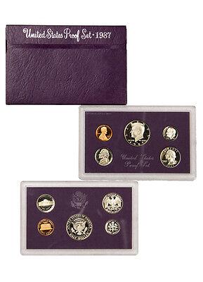 - 1987 United States US Mint Clad Proof Set SKU1433