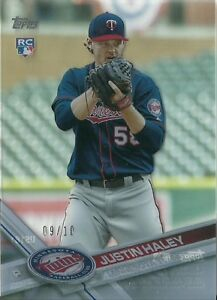 2017 Topps Update Clear Justin Haley Minnesota Twins #09/10