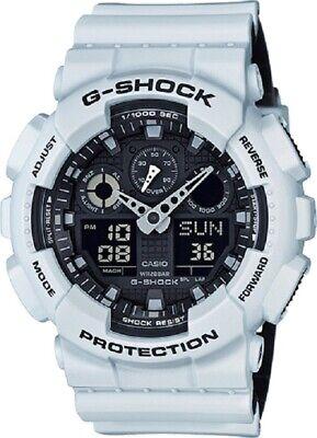Usado, Casio G-Shock Watch White Band Black Face Shock Resistant GA100L-7A segunda mano  Embacar hacia Argentina