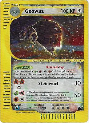 CCG 23 Pokemon Skyridge Holo Geowaz 148/144 Deutsche Karte