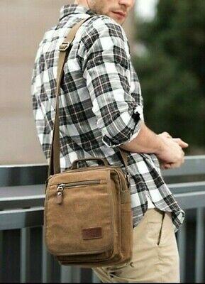 * Kabden 3804 4L*Coffee- Men Multifunctional  Canvas  Single  Shoulder Bag Bag Canvas Coffee