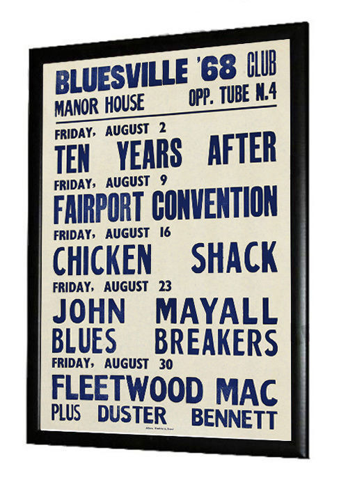 Fleetwood Mac, John Mayall, Ten Years After, Chicken Shack Gig Poster 1968
