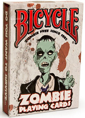 Zombie Bicycle Deck of Playing Cards Halloween Horror Brains tips quotes torture