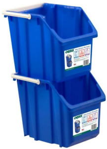 Recycling Blue-Stack Carry-Bin /Garbage Bin ($12 for a pair)