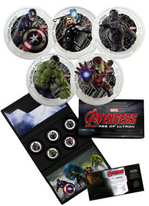 2015 Silver Avengers Age of Ultron 5 Piece Proof Set