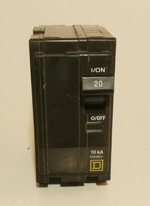 Square D QO220 2-Pole 20-Amp 120/240V Plug-In Circuit Breaker