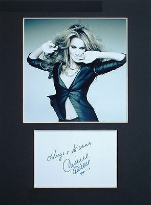 Celine Dion photo print mounted 8x6 signed printed autograph gift display #A