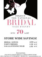 NATIONAL WEDDING GOWN SALE! ENTIRE STORE UP TO 70% OFF!