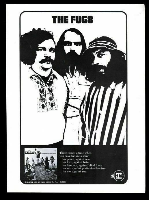 1968 The Fugs photo It Crawled Into My Hand Honest album release print ad